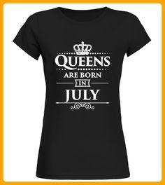 Queens Are Born In July TShirt - Shirts für freundin mit herz (*Partner-Link)