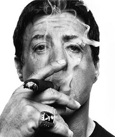 Join Carlos the intern as he searches far and near for the true cigar men of Hollywood, including Michael Jordan and Sylvester Stallone. Man Smoking, Cigar Smoking, World Press Photo, Photo Star, Cigar Men, Good Cigars, Rocky Balboa, Celebrity Portraits, Black And White Portraits