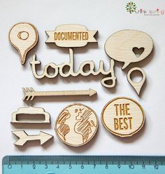 10 Wood Veneer Shapes AROUND THE WORLD by ThinkSpring on Etsy, $6.90