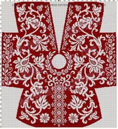 ru / Фото 233 - Le Filet Ancien au Point de Reprise III - gabbach - Her Crochet Filet Crochet, Crochet Coat, Irish Crochet, Diy Finger Knitting, Diy Crafts Knitting, Knitting Projects, Knitting Charts, Knitting Stitches, Knitting Designs
