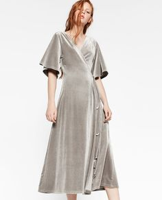 ZARA - WOMAN - CROSSOVER VELVET DRESS