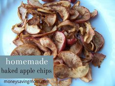 How to Make Homemade Baked Apple Chips -- these are easy to do and SO yummy!