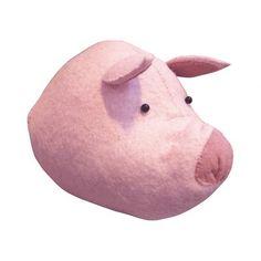 Fiona Walker England Pig Head Wall Decor. #laylagrayce #fionawalker #pink