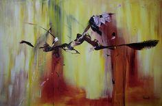 'Inspect' - acrylverf op linnen - 120 cm breed x 80 cm hoog   #kunst #schilderij #abstract #interieur