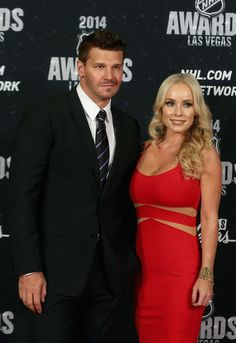 David Boreanaz Photos Photos - Actor David Boreanaz and wife Jaime Bergman…