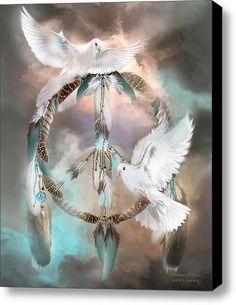 Dreams Of Peace Stretched Canvas Print / Canvas Art By Carol Cavalaris