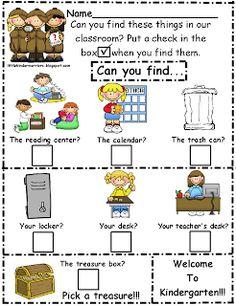 Little Warriors: Kindergarten Orientation/Open House Treasure Hunt-Freebie!