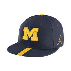 2fcfbd58761 University of Michigan Dri Fit Nike Vault Performance Adjustable Hat ...