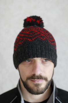 Ngaru Hat men's Knitting pattern by Francoise Danoy. A great quick knit for Father's Day - get the downloadable PDF knitting pattern from LoveKnitting.