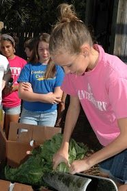 Canterbury School of Florida Middle School students grow lettuce in a hydroponic garden and feed it to manatees at the Lowry Park Zoo manatee hospital.