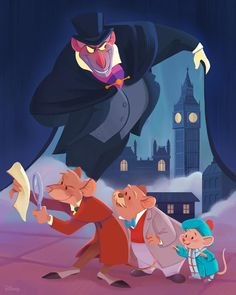 """75.1 k mentions J'aime, 413 commentaires - Disney (@disney) sur Instagram : """"Get clued in.  It's the anniversary of The Great Mouse Detective!"""""""