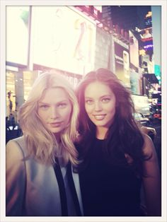 Aline Weber and Emily Didonato behind-the-scenes of a shoot