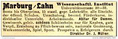 Original-Werbung/ Anzeige 1924 - MARBURG / LAHN  - ca. 60 x 20 mm