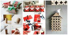 Abbiamo selezionato per te 8 mini tutorial per riutilizzare vecchi rotoli di carta igienica come decorazioni natalizie in stile Shabby Chic! Guardate che fantastiche idee.