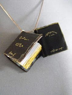 DIY mini leather book charms- for spur of the moment ideas and doodles