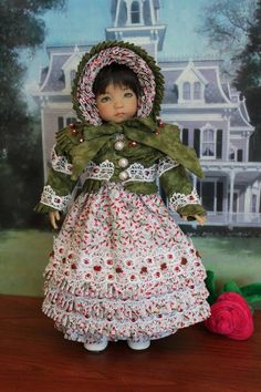 """PEPPERMINT TWIST"" Regency Ensemble For Your 13"" Effner's Little Darling Doll #DiannaEffner"