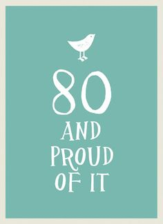 And Proud of It: 80 and Proud of It Hardcover) for sale online 80th Birthday, Birthday Gifts, Milestone Birthdays, Little Books, Nonfiction Books, Gift Ideas, Things To Sell, Men, Birthday Presents