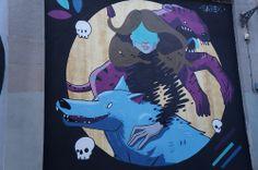 """El Muro de Sabek en el Proyecto """"Muros"""".#ArteTabacalera Promoción del Arte #ArteUrbano #StreetArt Madrid Día 6 #Arterecord 2014"""