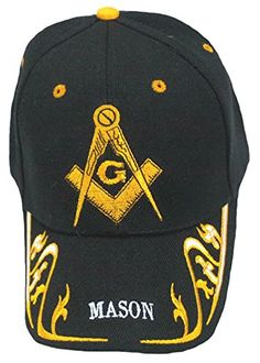 2070b8c4f84c4 Buy Caps and Hats Masonic Baseball Cap Freemason Mason Hat Mens One Size  Black