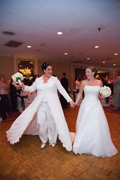 They look lovely!tell me why their marriage will hurt yours. Lesbian Wedding, Wedding Wear, Wedding Attire, Dream Wedding, Lesbian Couples, Wedding Suits, Gold Wedding, Flowing Dresses, Wedding Honeymoons