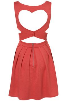 rib heart back dress by Topshop. I WANT THIS