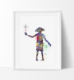 Dobby Harry Potter Art Print, Nursery Art Print, Dobby Watercolor Art, Harry Potter Wall Art Poster Kids Decor (65)