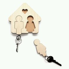 His and her key holder idea