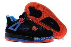 4672c55fe6a8 Buy Kids Shoes Jordan 4 IV Black BlueOrange Blaze-Old Royal For Sale Super  Deals from Reliable Kids Shoes Jordan 4 IV Black BlueOrange Blaze-Old Royal  For ...