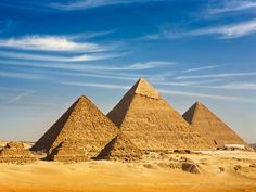 The Great Pyramids of Egypt.  The pyramid form was a marvel of engineering that allowed ancient Egyptians to build enormous structures. The most famous pyramids in Egypt are the Pyramids of Giza, built more than 2,000 years B.C. to shelter and safeguard the souls of Egyptian pharaohs.