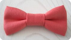 MENS Coral textured cotton bowtie in Newborn by NBrynnDesign, $11.95