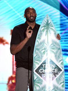 edb7330325ed Kobe Bryant Photos - Former NBA player Kobe Bryant speaks onstage during Teen  Choice Awards 2016