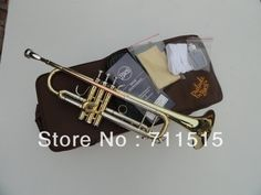 (160.14$)  Watch now - http://aiu7f.worlditems.win/all/product.php?id=553930409 - Bb flat Trumpet Bach TR-600 Brass Small Trompeta Brass Instruments Cupronickel in Section Mouthpiece Gloves Musical Instrument