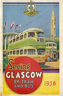 Seeing Glasgow by Tram and Bus - Empire Exhibition edition, 1938 - issued by Glasgow Corporation Transport