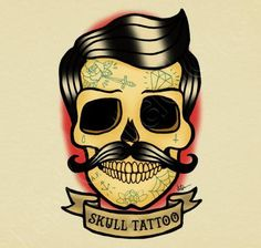old school tattoo art mustache - ค้นหาด้วย Google