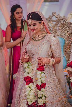 9 New Bridal Lehenga Colors For The 2018 Bride! Indian Bridal Lehenga, Indian Bridal Outfits, Indian Dresses, Bridal Dresses, Indian Bridal Wear, Bridal Poses, Bridal Photoshoot, Bridal Portraits, Desi Wedding