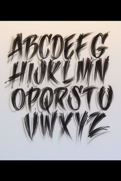 Note, only for patience people. Tattoo Lettering Styles, Chicano Lettering, Graffiti Lettering Fonts, Creative Lettering, Lettering Design, Tattoo Fonts Alphabet, Hand Lettering Alphabet, Graffiti Alphabet, Calligraphy Letters