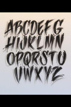 Airbrush Lettering Font Art Deco Caps Tatt Pinterest