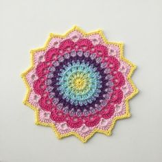 What do you know about crochet mandala pattern? It is a beautiful crochet pattern that can be adapted for creating a functional crochet item. Crochet Mandala is typical in which it has a circular shape and various colors of the… Continue Reading → Motif Mandala Crochet, Crochet Doily Patterns, Crochet Squares, Thread Crochet, Crochet Doilies, Crochet Flowers, Crochet Stitches, Crochet Home, Crochet Crafts
