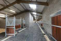 British event rider Piggy French's new horse stable barn