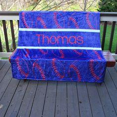 Personalized Fleece Baseball Blanket Boys www.kennebug.com You Coupon code PINTEREST for 15% off your order!