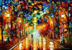 """Farewell to Anger"" by Alfred Afremov.  This beautifully colorful piece is so up lifting. :)"