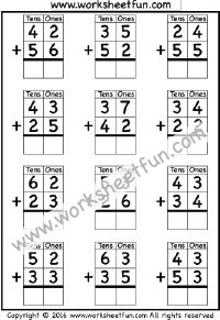 2 Digit Subtraction – No Regrouping