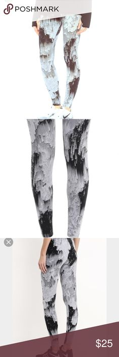 Nike sports wear AOP northern lights leggings Brand new with tags. Cotton/spandex Nike Pants Leggings
