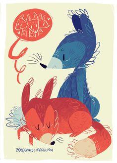 Mr. and Mrs. Fox by Zoe Persico, via Behance