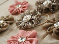 サテン(シフォン)のお花ヘアゴムの作り方