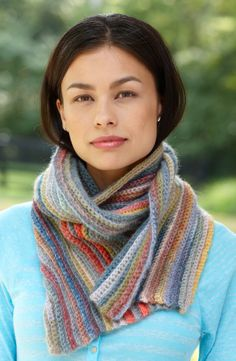 Image of Striped Ribs Scarf