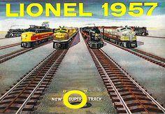 1957 LIONEL TRAINS CONSUMER CATALOG GOOD USED
