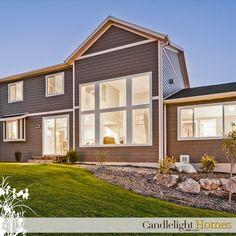 Candlelight Homes, Utah Home Builder, Exterior Home, Windows, Hardie Board, Landscape, Backyard  www.CandlelightHomes.com