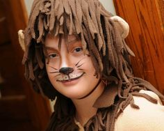 f9f1dd54c Simple lion face paint for kids. I later added a black