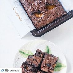 Mandarine Orange Brownies L'espoir    taken by arumugi (instagram)